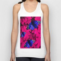 butterfly Tank Tops featuring  Butterfly  by Saundra Myles