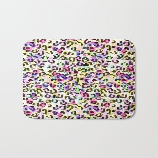 Colorful Leopard Spots Bath Mat