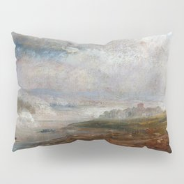 Johan Christian Dahl - The Elbe On A Foggy Morning - Digital Remastered Edition Pillow Sham