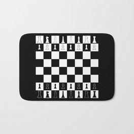Chess Board Layout Bath Mat
