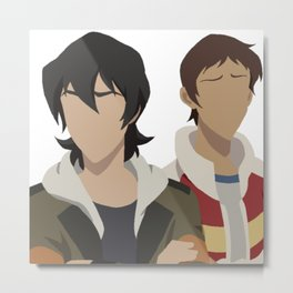 Keith and Lance Jacket Swap - Voltron Legedary Defender Metal Print