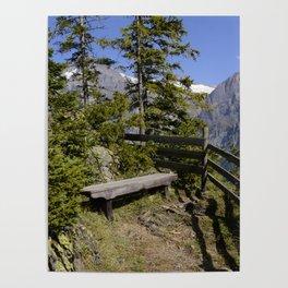 Aellfluh Grindelwald Switzerland Poster