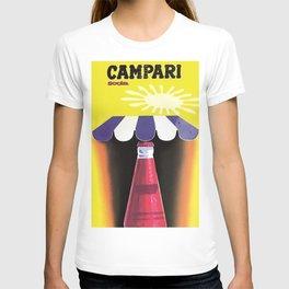 1960 Cordial Campari Italian Aperitif Advertising Poster T-shirt