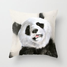 Laughing Pandas  Throw Pillow