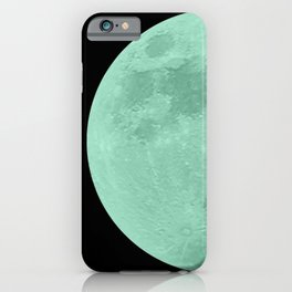 TEAL MOON // BLACK SKY iPhone Case