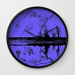 Knik River Mts. Pop Art - 1 Wall Clock
