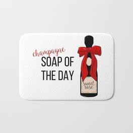 Champagne party print Bath Mat