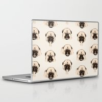 evil Laptop & iPad Skins featuring No Evil Pug  by Huebucket