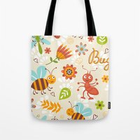 bugs Tote Bags featuring Bugs by olillia