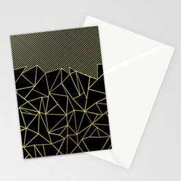 Ab Lines 45 Gold Stationery Cards