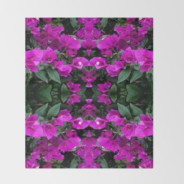 AWESOME AMETHYST PURPLE BOUGAINVILLEA VINES Throw Blanket