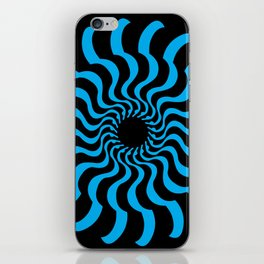 EYE 2(BLACK/BLUE) iPhone Skin