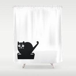 Surprised cat! Shower Curtain