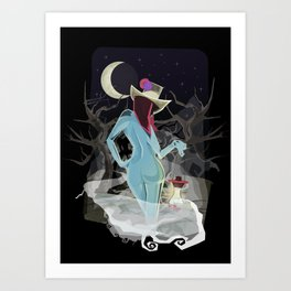 Welcome To The Darkness Art Print