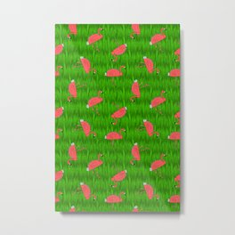flamingo tacos Metal Print