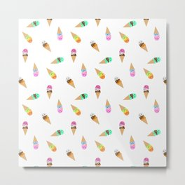 Ice Cream Bubbys Metal Print