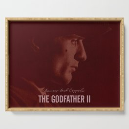 The Godfather Part II, Robert De Niro, Al Pacino, American movie poster Serving Tray