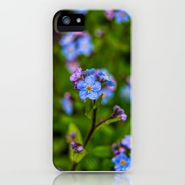 Forget-me-nots In The Rain iPhone Case