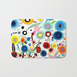 Rupydetequila whimsical floral art 2018 Bath Mat