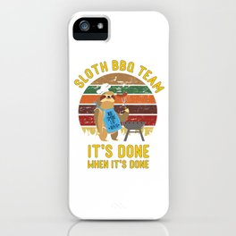 Barbecue BBQ Sloth iPhone Case