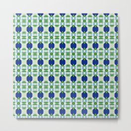 Blue Sapphires - this design goes well with Blue and Green Calm Metal Print