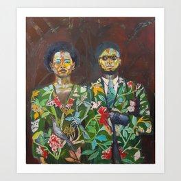 Returning From The Flower Market Art Print