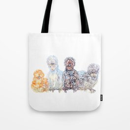 Silkie Chicken Huddle Tote Bag