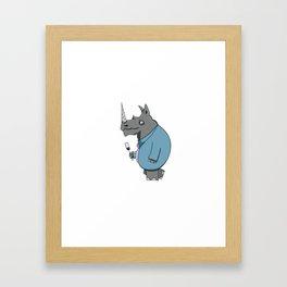 Rhino! Framed Art Print