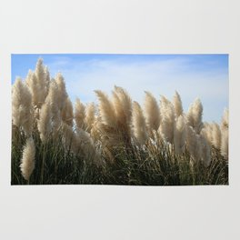 Bushes with sky on background Rug