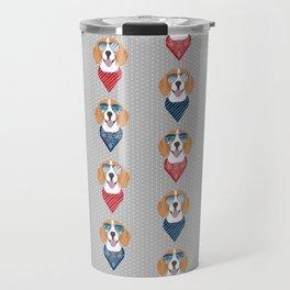 beagle bandana summer dog breed gifts pure breed pets Travel Mug