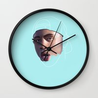 tyler the creator Wall Clocks featuring Tyler, The Creator, Incomplete by Flambino Gambino