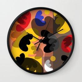 round vibrations Wall Clock