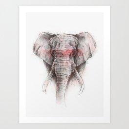 RED STRIPE Art Print