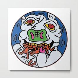 Keith Haring Pig 1988  Metal Print