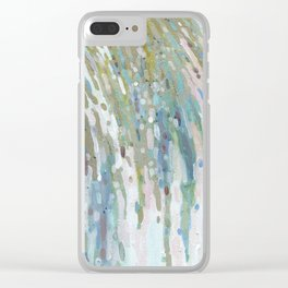 Spring Waterfall Clear iPhone Case