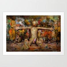 Off the Wall ! Art Print