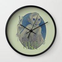 the hobbit Wall Clocks featuring THREE!! - Hobbit by KanaHyde