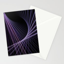 Purple Lines Stationery Cards