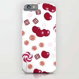 Candy lollipops of cherry iPhone Case