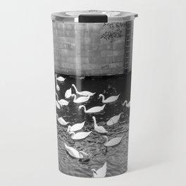 Swans in Berlin Travel Mug