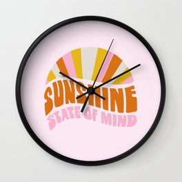 sunshine state of mind, type Wall Clock