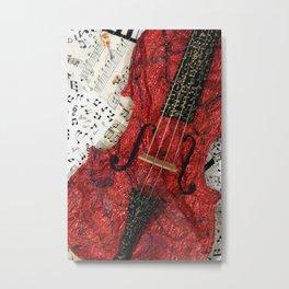 The Red Violin Metal Print
