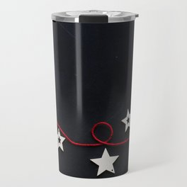 Stars on a Red Rope (Color) Travel Mug