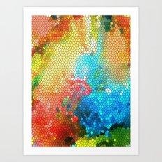 Geometric Organic Colors 1 Art Print