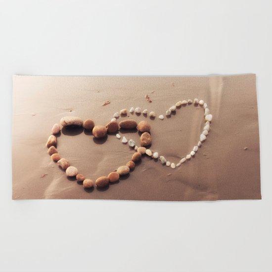 Stone Hearts Beach Towel