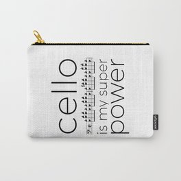 Cello is my super power (white) Carry-All Pouch
