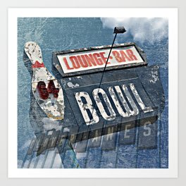 Clover Lanes 64 BOWL Bowling Alley (Recently Closed) in Livonia, Michigan Art Print