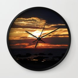 Golden Hour Wall Clock