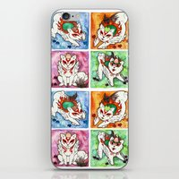 okami iPhone & iPod Skins featuring Okami Set by Jazmine Phillips