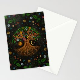 Whimsical Tree of Life - Yggdrasil  Stationery Cards